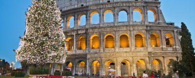 Roman Coliseum celebrates Christmas