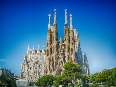 BARCELONA, chrám Sagrada Familia
