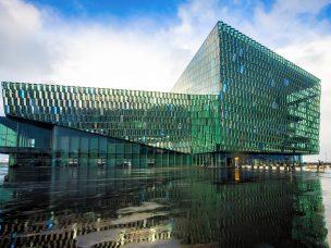 Operní scéna Harpa v Reykjavíku